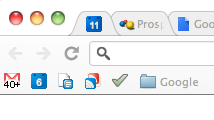 favicons as bookmarks